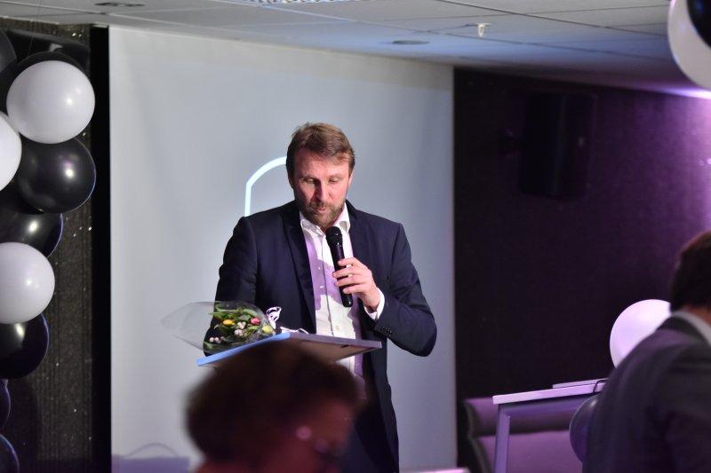 Årets odder og vår eminente toastmaster, Jan Frode Nornes.