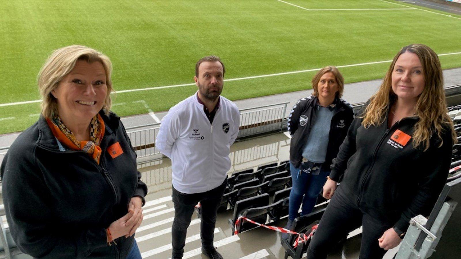 Fra venstre Signe Tynning, Einar Håndlykken, Line Refsdal og Nina Meling Haugen