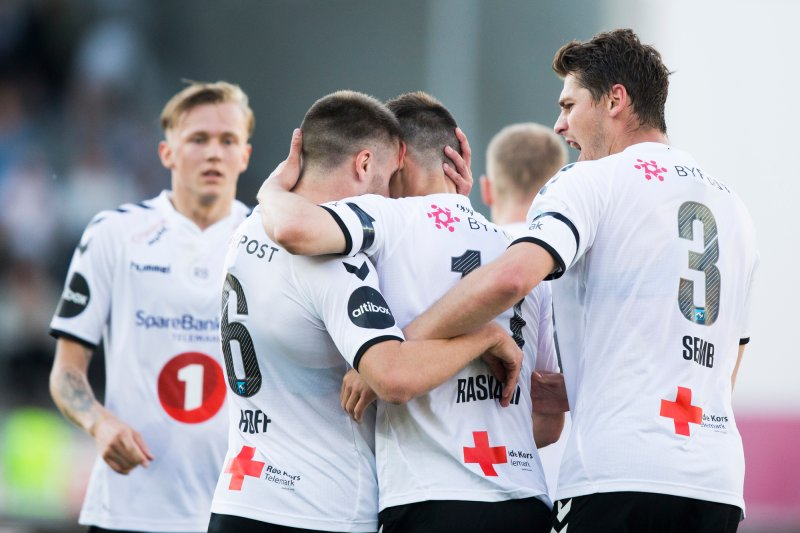 Odd - Ranheim. Oddjubel i eliteseriekampen i fotball mellom Odd og Ranheim på Skagerak Arena. Foto: Trond Reidar Teigen / NTB scanpix