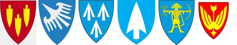 Kommunene Averøy, Finnøy, Hareid, Odda, Ullensaker og Våler i Hedmark