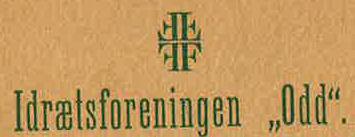 Fire F-merket på Aarsberetning 1904-1905